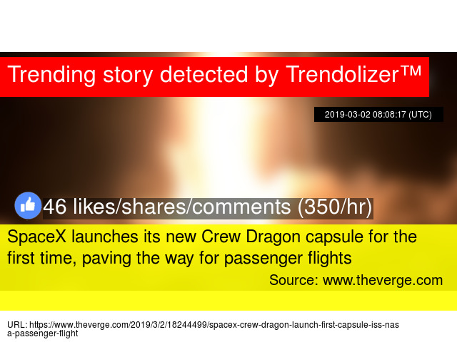 SpaceX launches its new Crew Dragon capsule for the first time
