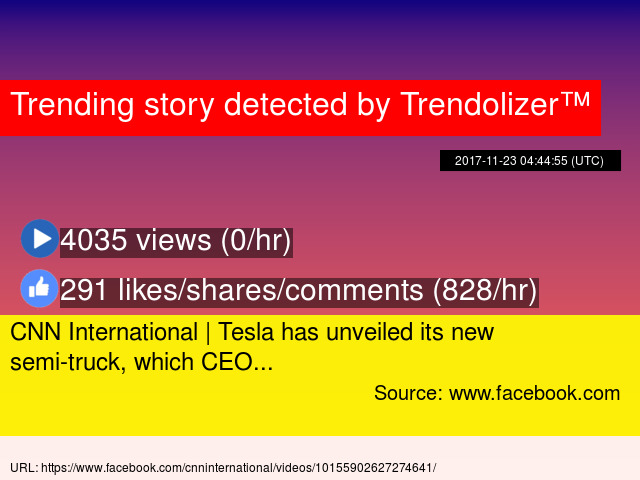 Cnn International Tesla Has Unveiled Its New Semi Truck Which Ceo Stats