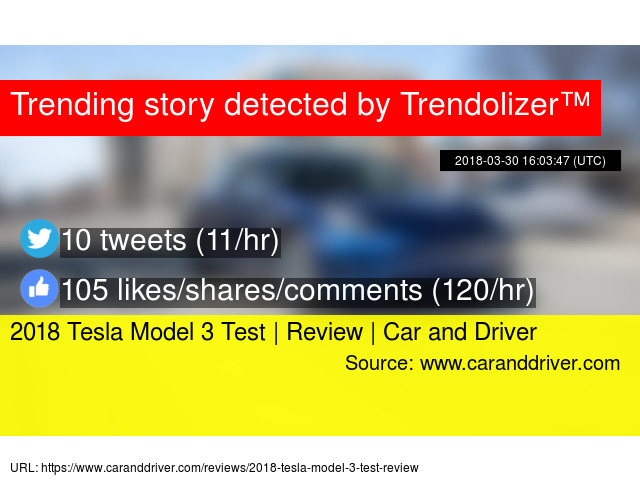 2018 Tesla Model 3 Test Review Car And Driver
