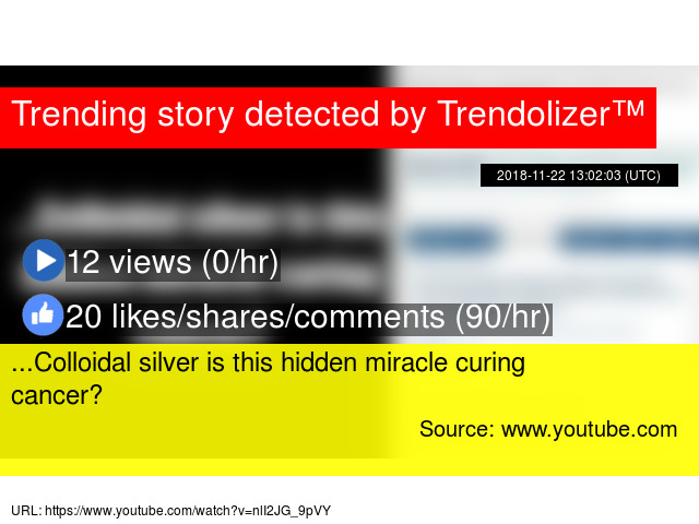 Colloidal silver is this hidden miracle curing cancer?