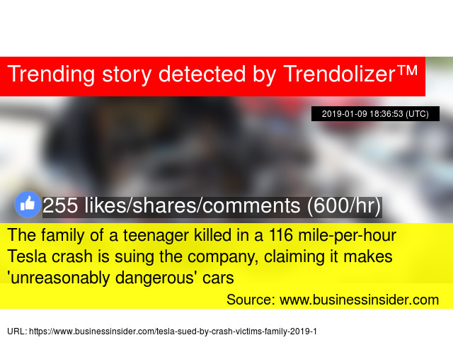 The family of a teenager killed in a 116 mile-per-hour Tesla crash