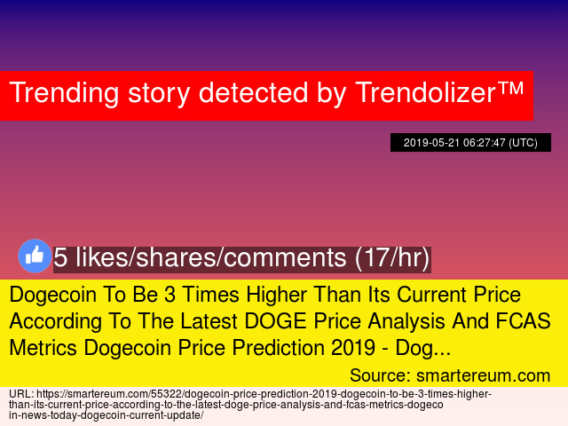 Dogecoin To Be 3 Times Higher Than Its Current Price According To