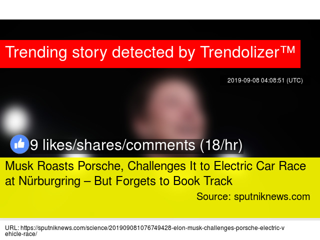 Musk Roasts Porsche, Challenges It to Electric Car Race at