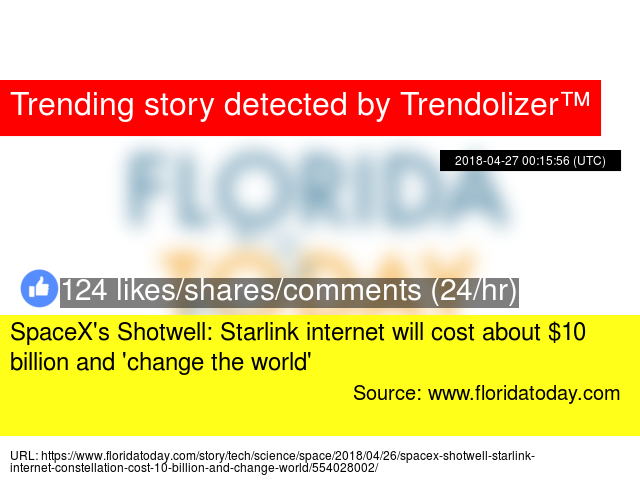 SpaceX's Shotwell: Starlink internet will cost about $10
