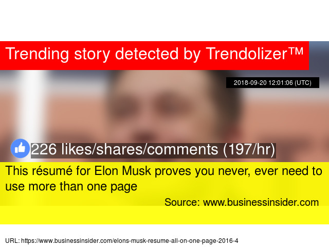 this résumé for elon musk proves you never ever need to use more