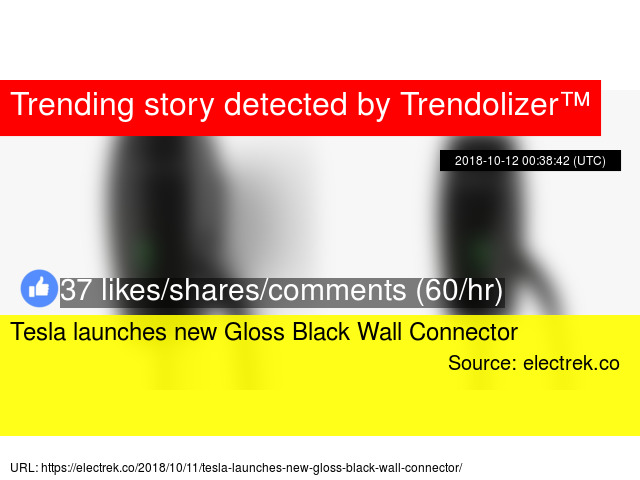 Tesla launches new Gloss Black Wall Connector